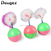 2015 New design Funny Cat Toy Cute Feather Mouse Ball Tumbler,cat mouse,tumbler toy .toys for pets ,superior toys