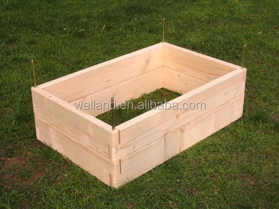 Erhöhte Garten Bett Gemüse Pflanzer Zedernholz Natürliche w ...