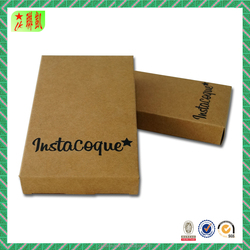 Factory direct sale recycled brown kraft paper box with lid printing for phone shell