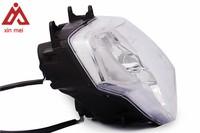 H4 Classic Designs Motorcycle Round Headlight Polish with Clear Glass Head Light Headlight Front Light For Motorcycle