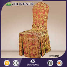 Hot Sale Pleated Fashion Design Polyester Universal Stretch sequin chair cover chair sashes