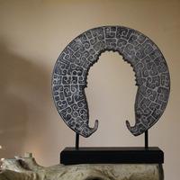 Beautiful Polyresin Buddha Head Shape Ornament for Sale