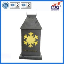 2015 Top Brand LED Lighted Lantern with Snowflake Shape
