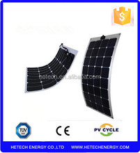 102W thin film flexible PV solar panel for roof system car, boat