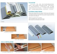 Flooring PVC cable trunk with self adhesive