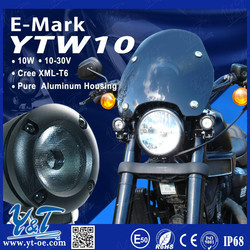 Y&T Factory Price 10w Double Angel Eyes Motorcycle Led Turn Signal Light With 1 Year Warranty