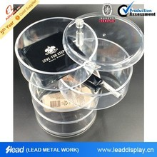 the 4 layer rotary transparent box,plastic organizing box,house container