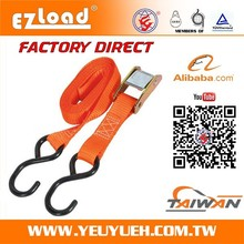 """[EZ LOAD] 1"""" 25mm Stainless Steel Cam Buckle Strap with S Hook"""
