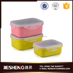 Fashion novelty food packaging lunch box with lock for children