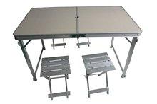 de aluminio plegable camping mesa y sillas
