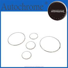 Flexible Plastic Chrome Trim, Car Accessory Dash Board Gauge Ring Set for Mazda MX-5