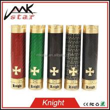 Vendita calda rosso verde nero scuro in fibra di carbonio cavaliere mod meccanico vape mods vaporizzato clone 1:1 e cig china wholesale