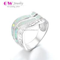 Ethiopian Opal Silver Rings Big Stone Men's Silver Rings