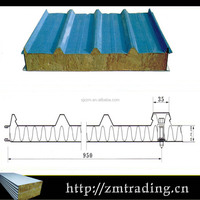 fireproof rockwool roof cheap sandwich panel price
