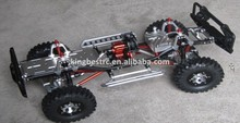 Axial 1/10 SCX10 Alloy Rail Frame Chassis Kit With Differential RC Crawler Car Aluminum Chassis For Sale -kbc002