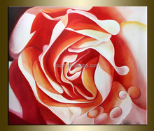 Red Rose Flower Canvas Custom Oil Painting For Home Decoration