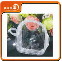 recycled waterproof zipper and handle clear pvc bag