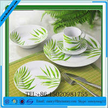 Lovely imprinted fine china ceramic dinner sets new product with design