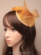 Wholesale Design Gold Fascinator Base Sinamay Hat For wedding/Party/Races