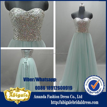Real Picture 2015 Sexy Fashion Off Shoulder Bling Beaded Classic Prom Dress