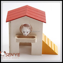 Luxury wooden hamster cage wooden hamster double-deck cage