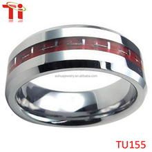 Tungsten Carbon Fiber Red Mens Women Lover Couple Wedding Ring Set form him and her