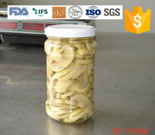 bottled Canned mushroom slice in brine glass jar , health canned food ,fruits and vegetables. market price hot sale products,