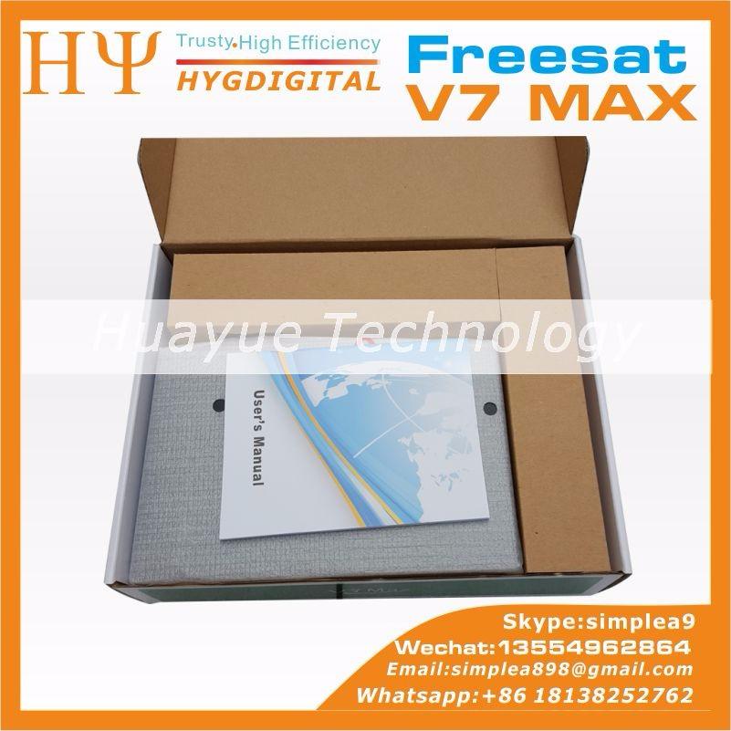 Original V7 V7 MAX MAX full HD dvb-s2 HD Por Satélite Freesat Set Top Apoio Receptor poder v u chave biss cccam rede newcamd