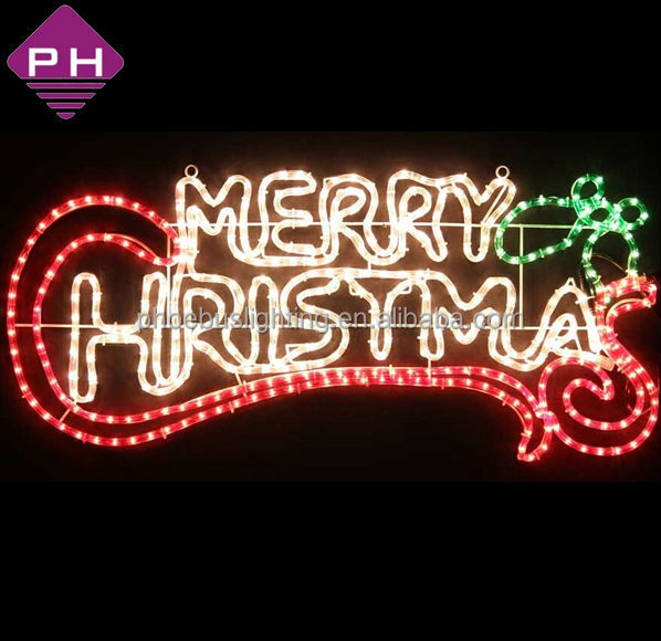 Ip65 rope merry christmas lighted signs outdoor buy merry merry christmas sign aloadofball Image collections