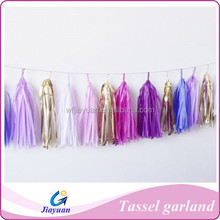 Customizable Tissue Paper Tassel Garland 6 Feet // party // weddings // nursery // bedroom // store // photography decorations