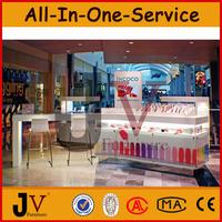 Free standing nail salon bar furniture nail polish display rack in mall