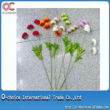 Flores artificiales pequeñas con tallo largo