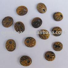 wholesale tiger eye semi precious stone embossed pendant