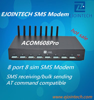8 port gsm sms modem voip gateway support imei change, 960 sms per hour