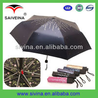 super nice umbrellas fashion design 3 folding umbrella