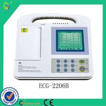 Aprobado por la CE bajo Freqency 6 canales USB portátil de 12 derivaciones ECG / Electrocardiografía