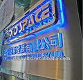 Exterior con retroiluminación led de iluminación de acero inoxidable carta identidad señalización y compañía firmar