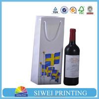 Promotional Paper Wine Bag/Gift wine Bag/wine bottle bag for wine from trade assurance supplier