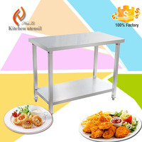 Fastfood Restaurant 1800x800x800mm countertops kitchen hanging cabinets kitchen stainless steel sink work table