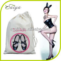 New organic cotton drawstring shoes bag for shoes