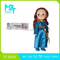 2015 New !Eco-friendly PVC 12 Inch princess Barbie Doll(3 Model Mixed)