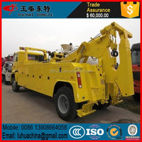 Heavy road construction wrecker truck auto towing equipment