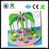 New design wholesale coconut tree indoor merry-go-round play games kids electric indoor wooden swing QX-103