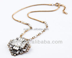 new arrival cheap bulk jewelry crystal pendant necklace jewelry