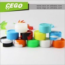 2015 Hot sale 7 caves silicone jars dab wax container, 7 mini holes silicone container, butane hash oil silicone container