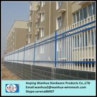 2015 factory hot sale pvc powder coating white iron picket fence