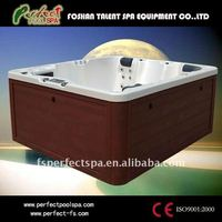 Fashion whirlpool massage outdoor hot tub /spa/bathtub with LED light