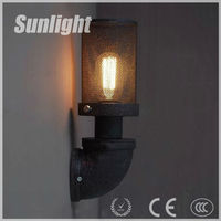 Iron industrial metal wall lamp waterpipe retro style / Indoor wall light / bedroom wall lamp