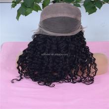 2015 Fashionable smooth new natural curl human hair half wig