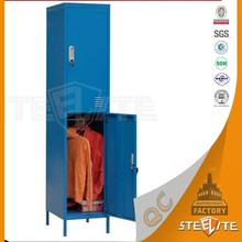 Stainless Steel Furniture Metal 2 Door School Locker/Steel Wardrobe Cabinet For School Sale